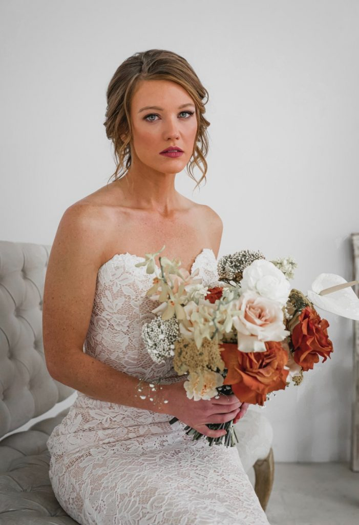 photo of a bride on wedding day