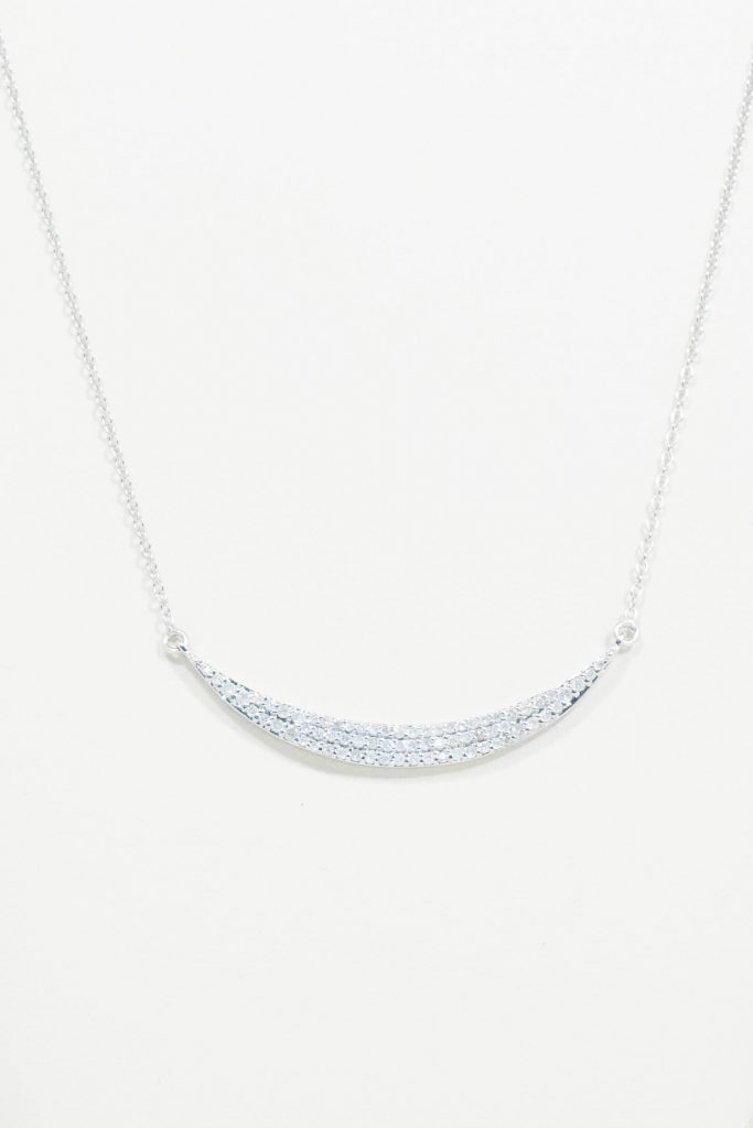 "14k White Gold ""Sidebar"" Necklace"