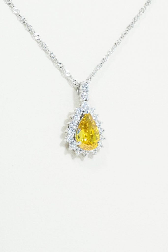 2.85ct Canary Diamond Pendant