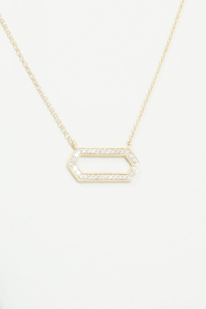"14k Yellow Gold ""Sidebar"" Necklace"