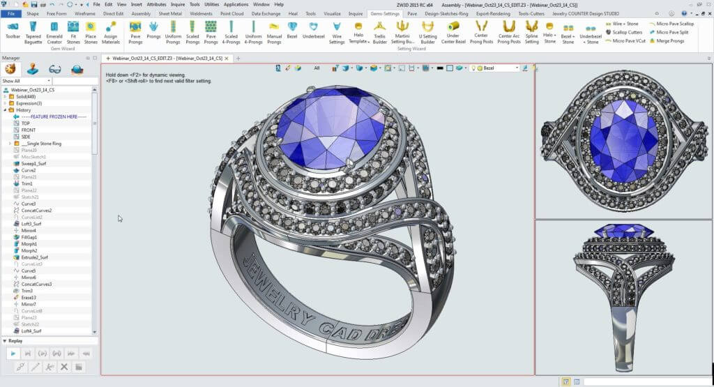 3d imagery for custom jewelry