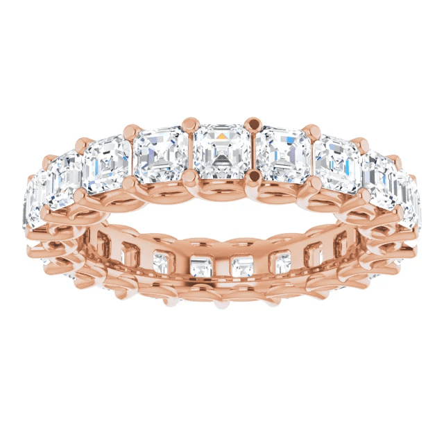 Rose Gold Engagement and Wedding Ring Indiana