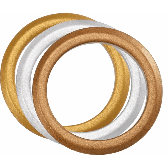 Silicone stackable rings