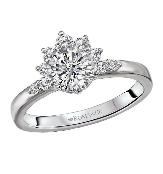 1ct Cluster Diamond Engagement Ring