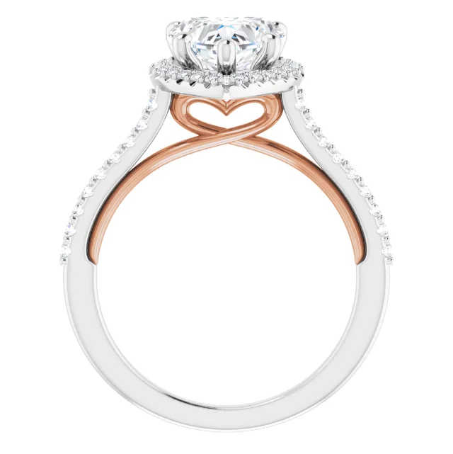 1.76 Carat Heart Shaped Diamond Rosegold Cathedral