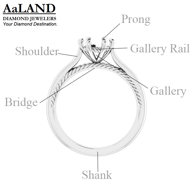 Cathedral style engagement ring simple